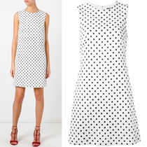 17SS DG890 POLKA DOT PRINTED BROCADE MINI DRESS