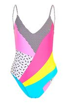 日本未入荷☆TOPSHOP☆'80s Patchwork Swimsuit