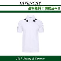 2017SS関税込,GIVENCHY(ジバンシィ)star patches ポロシャツ