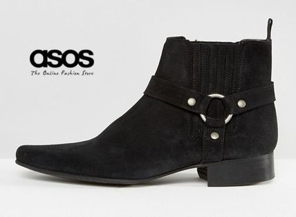 * ASOS * * leather seed harness ring boots /