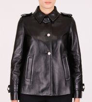 MM117 CROPPED LEATHER JACKET