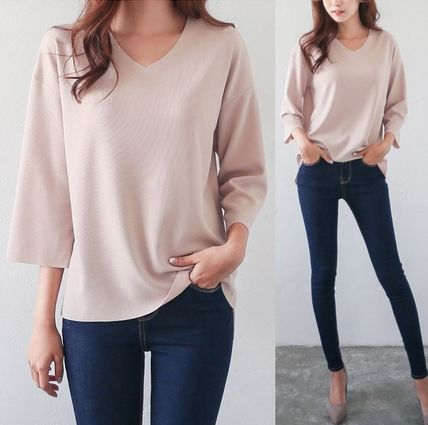 Adult chic V neck rise tops all 14 types