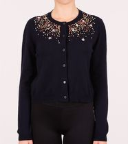 MM137 EMBELLISHED CASHMERE CARDIGAN
