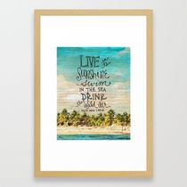 Society6◆額入りアートプリント◆Live In The Sunshine◆53×38