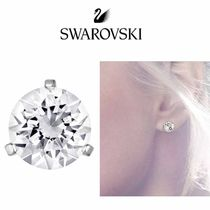 SWAROVSKI★クラシック・クリスタル Solitaire Pierced Earrings
