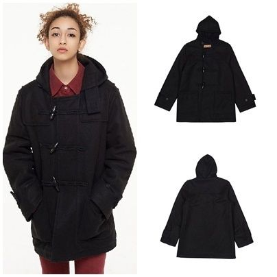 日本未入荷CITY BREEZEのDUFFLE COAT BLACK