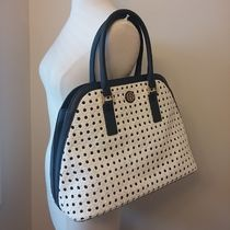 【即発】Tory Burch★ROBINSON BASKET WEAVE OPEN DOME SATCHEL
