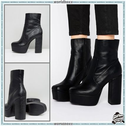 _ASOS _ platforms Faux Leather ankle boots
