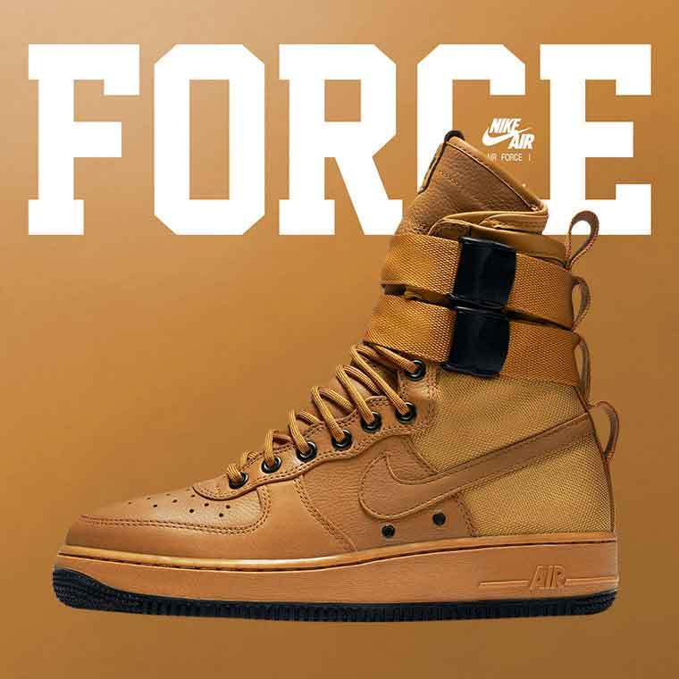 NIKE SF AF1 Air Force 1 in Desert Ochre タン レディース
