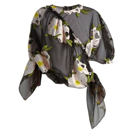 Simone Rocha Peony floral tulle tops Womens