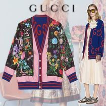 GUCCI Gucci Ghost Reversible Wool Cardigan