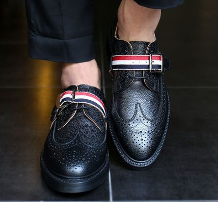 THOM BROWNE MFD002L3 line strap wing tips