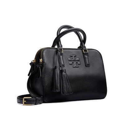 Tory Burch トートバッグ 【Tory Burch】THEA SMALL ROUNDED DOUBLE-ZIP SATCHEL 41159702(2)