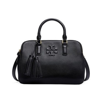 Tory Burch トートバッグ 【Tory Burch】THEA SMALL ROUNDED DOUBLE-ZIP SATCHEL 41159702(3)