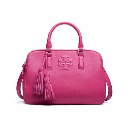 Tory Burch トートバッグ 【Tory Burch】THEA SMALL ROUNDED DOUBLE-ZIP SATCHEL 41159702(6)
