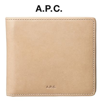 France issued A. P. C. London wallet leather BEIGE