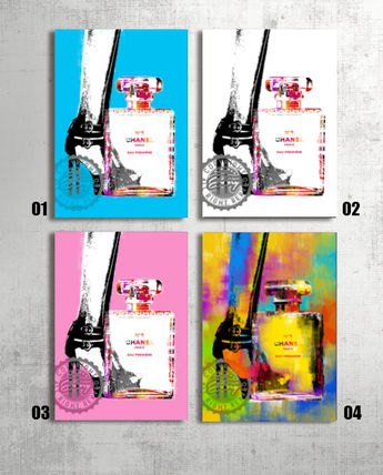 A2 poster set Chanel heels & fifth motif