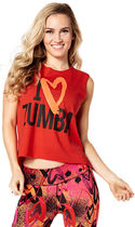 新作♪Zumbaズンバ Zumba Love Slashed Tee-Really Red-y