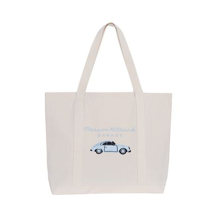 17SS MAISON KITSUNE Fox Garage tote back