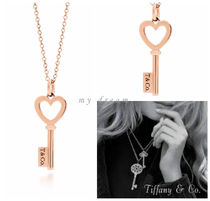 【Tiffany & Co】Tiffany Keys Heart Key Pendant in rose gold