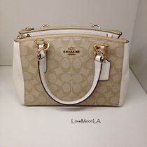 【COACH】人気☆MINI CHRISTIE CARRYALL 2way F58290☆Chalk☆