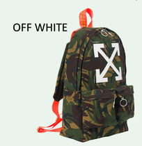 Kane West愛用☆Off-White☆ARROWS カモフラ バックパック