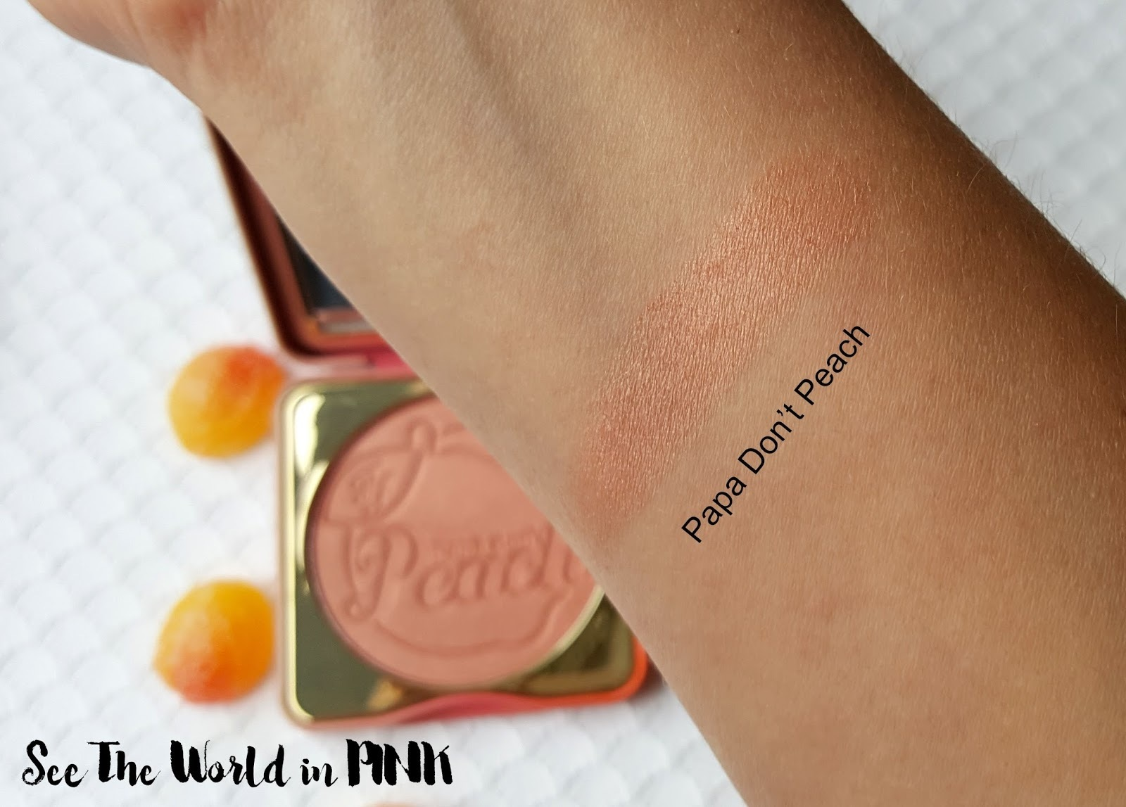 新作★Too Faced SWEET PEACH★PAPA DON'T PEACH★チーク