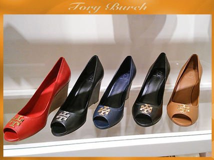 Nice pumps TORY BURCH LAURA 85MM OPEN TOE WEDGE