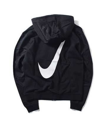 NIKE BIG SWOOSH HYBRID FLEECE HOODY Black
