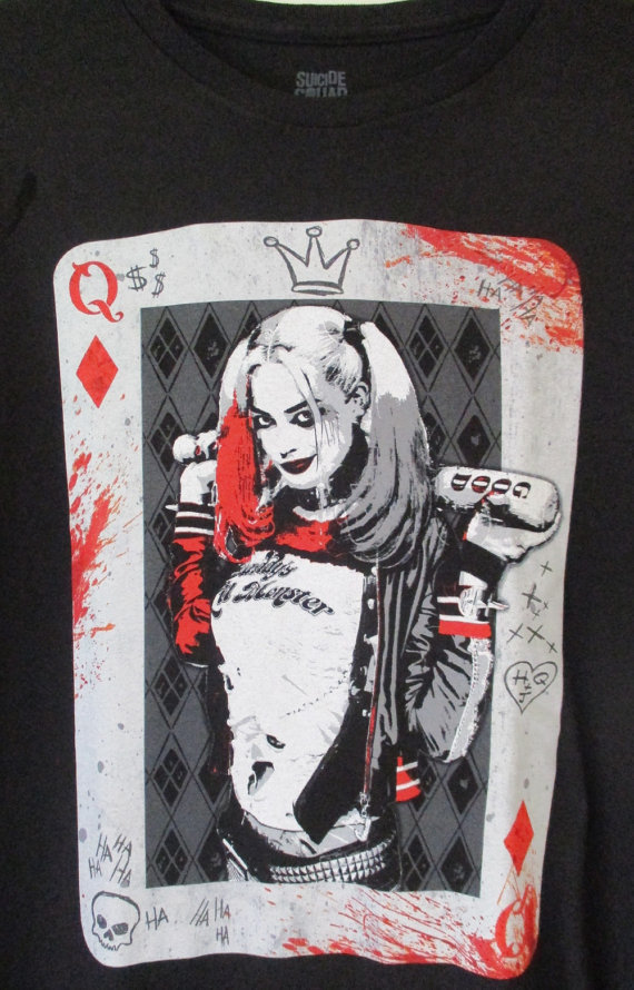 HARLEY QUINN   Suicide Squad  Tシャツ黒S-XL