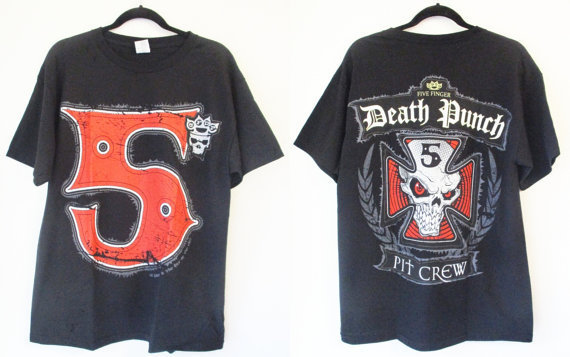 Five Finger Death Punch official ライセンスTシャツ黒S-XL
