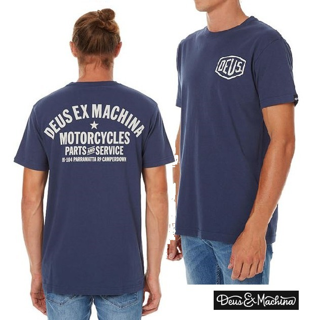 DEUS EX MACHINA ★Camperdown Address Tシャツ ☆ Navy