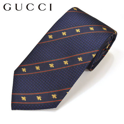 17. GUCCI honey pattern stripes tie egc17s010