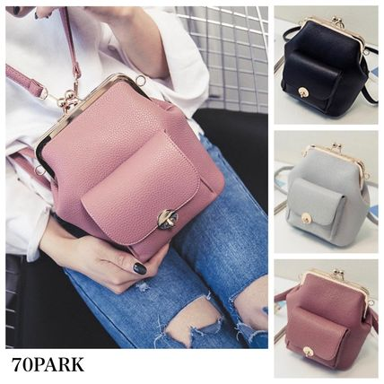 2-way wallet PU leather mini backpack all pink
