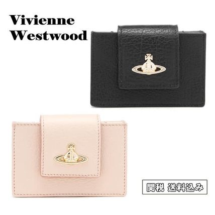 関税・送込【Vivienne Westwood】Grain Leather カード入れ★2色