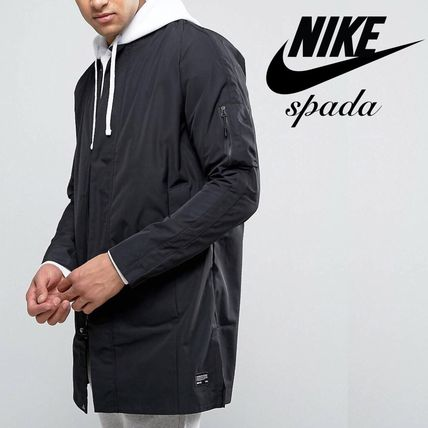 SALE NIKE logo Ma-1 long bomber jacket /