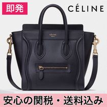 安心の関送込★確保済【CELINE】Luggage Nano Bag BLACK/GOLD