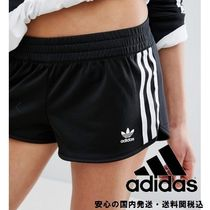 adidas Originals Black Three Stripe Shorts♪