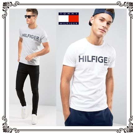 2017 TOMMY HILFIGER Denim big logo tee shirts 2 color