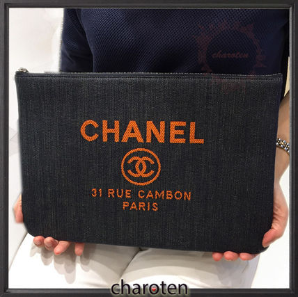 CHANEL クラッチバッグ 【関税補償・追跡付】最新/限定☆争奪戦Deauvilleでかクラッチ(2)