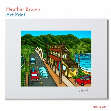 ◆Heather Brown◆ヘザーブラウン Surf N Sea Art Print Sサイズ