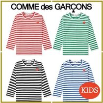 COMME des GARCONS(コムデギャルソン) キッズ用トップス 17新作★COMME des GARCONS PLAY★キッズボーダー長袖Tシャツ