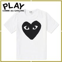 COMME des GARCONS(コムデギャルソン) キッズ用トップス ハートロゴ★COMME des GARCONS PLAY★キッズ半袖Tシャツ