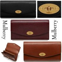 追跡送料込★ Mulberry ★長財布 Darley Natural Grain Leather