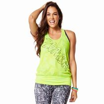 ☆ZUMBA☆Hyped Up Bubble Tank Top LG