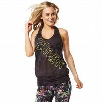 ☆ZUMBA☆Hyped Up Bubble Tank Top GR