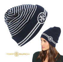 [TORY BURCH] REVERSIBLE STRIPED HAT BEANIE ビーニー