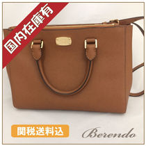 国内発送★Michael Kors KELLEN MD Satchel luggage 2way 茶