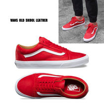 VANS★OLD SKOOL PREMIUM LEATHER★レザー★兼用★22~29cm★赤