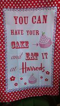 【Harrodsハロッズ】ティータオル/YOU CAN HAVE YOUR CAKE